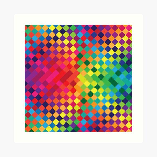 Rainbow Color Grid Art Print