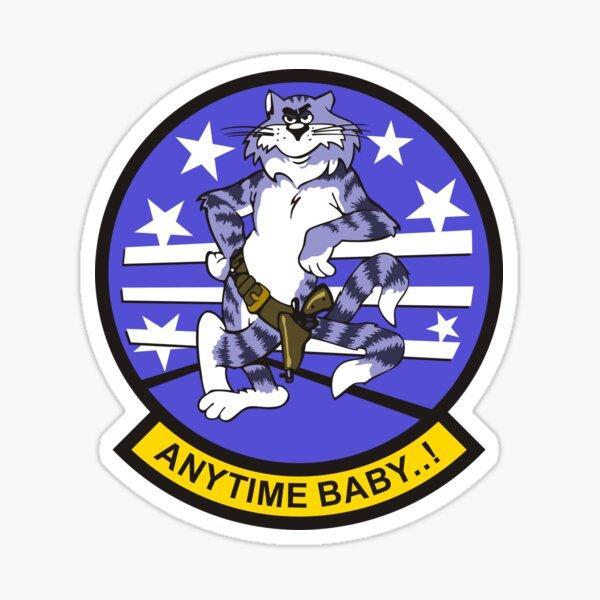 F-14 Tomcat 'Anytime Baby..!' Sticker