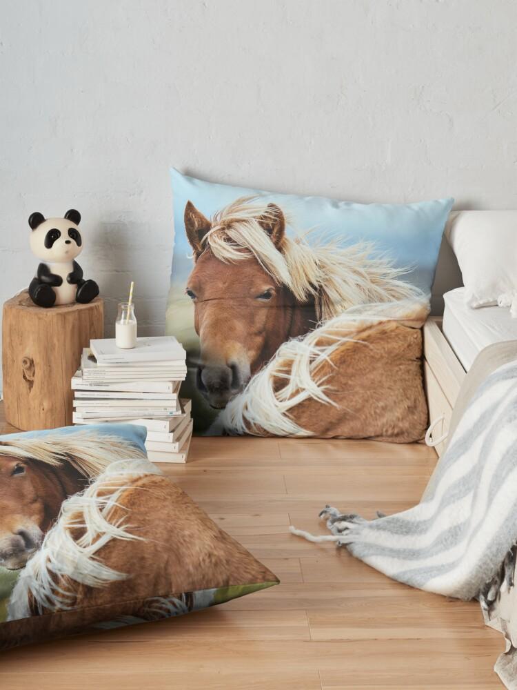 Alternate view of The stunning Icelandic Pony. Floor Pillow