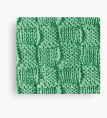 Knitted Wool square green Canvas Print