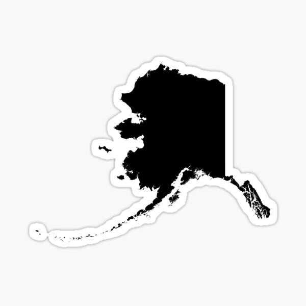 Black Alaska Sticker