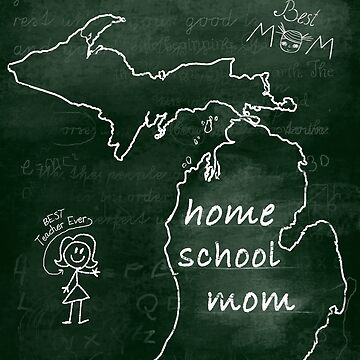 Michigan Home School Mom Mother's Day Gift Mug by INFPMama
