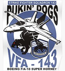 VFA-143 Pukin' Dogs Poster