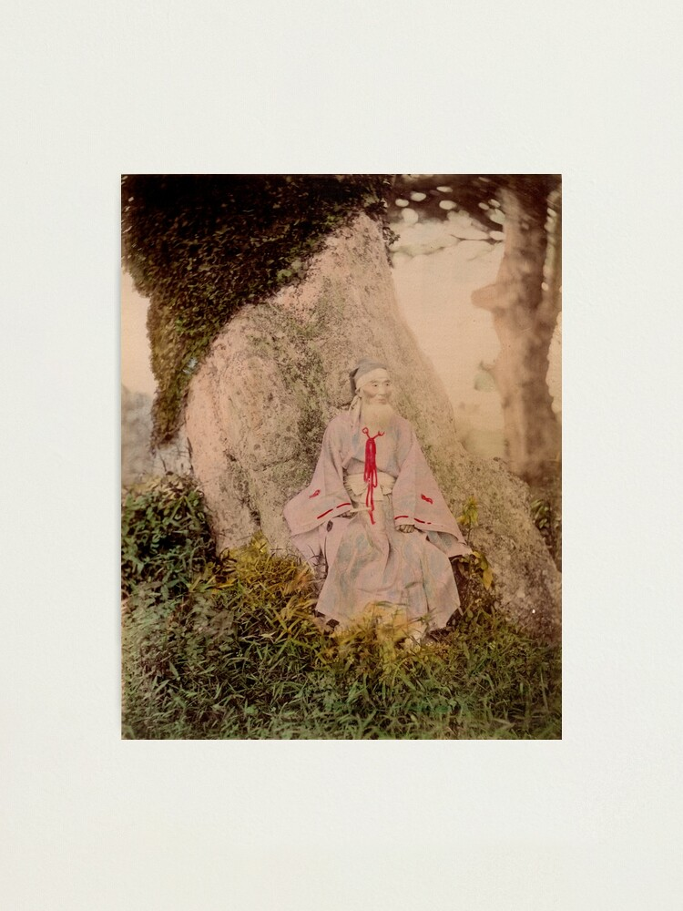 Alternate view of Shinto priest Photographic Print