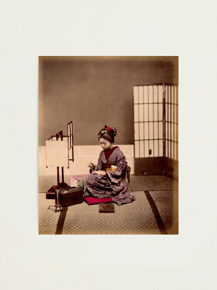 Alternate view of Japanese girl writing Photographic Print