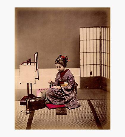 Japanese girl writing Photographic Print