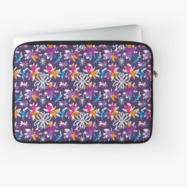 Bright Blooms Purple Laptop Sleeve