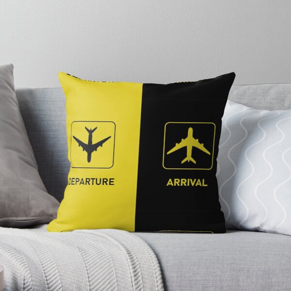Aviation Arrival Departure T-Shirts & More Throw Pillow