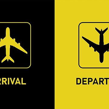Aviation Arrival Departure T-Shirts & More by ThreeCrowns