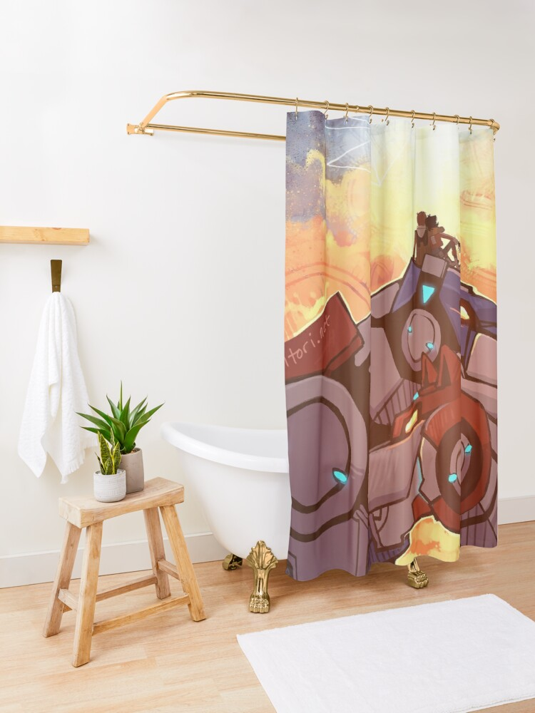 Alternate view of Fire and Ice Shower Curtain