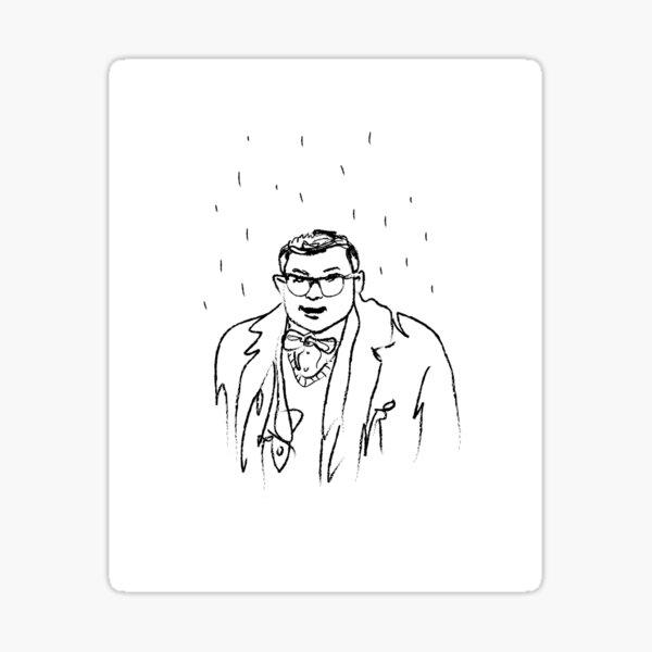 Max DeBryn in the rain Sticker