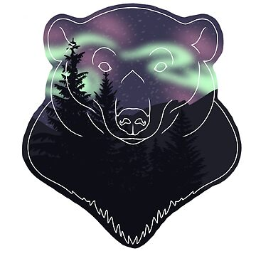 Aurora Borealis Bear by rhi-designs
