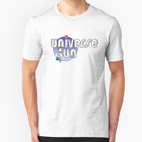 Universe Gun New Logo - Blue Slim Fit T-Shirt