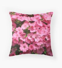 Petunias in pink Throw Pillow