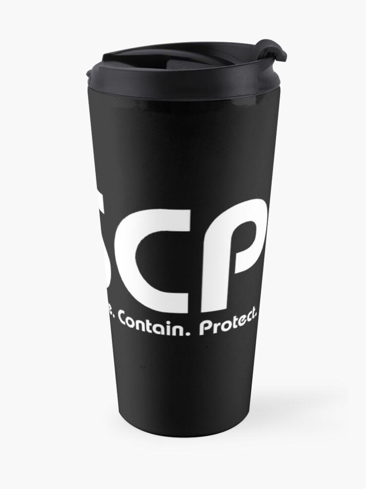 Alternate view of SCP foundation logo Travel Mug