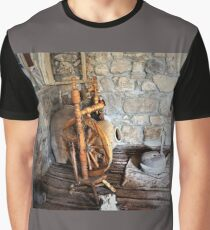 Spinning Wheel and millstone Graphic T-Shirt