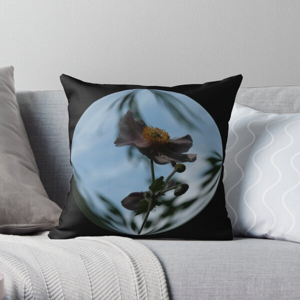Anemone Having A Blue Day Throw Pillow