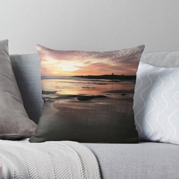 Embleton Bay - Northumberland - UK -  Worth Getting Up Throw Pillow