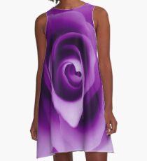 Purple Rose A-Line Dress