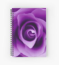 Purple Rose Spiral Notebook