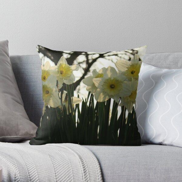 Skelton Village Green - Daffs Throw Pillow