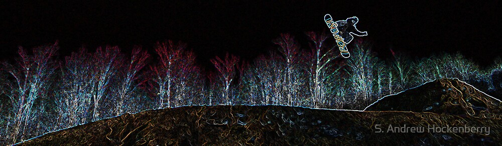 Neon Northern Lights by S. Andrew Hockenberry