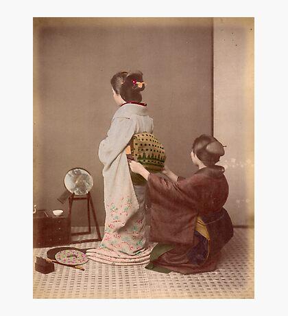 Japanese girls wearing kimono Photographic Print