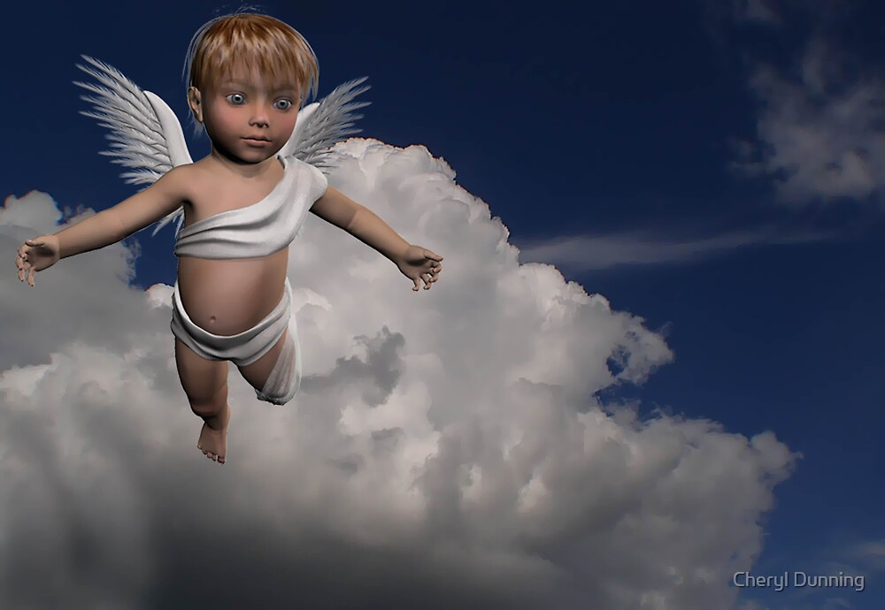 angel in the clouds by Cheryl Dunning