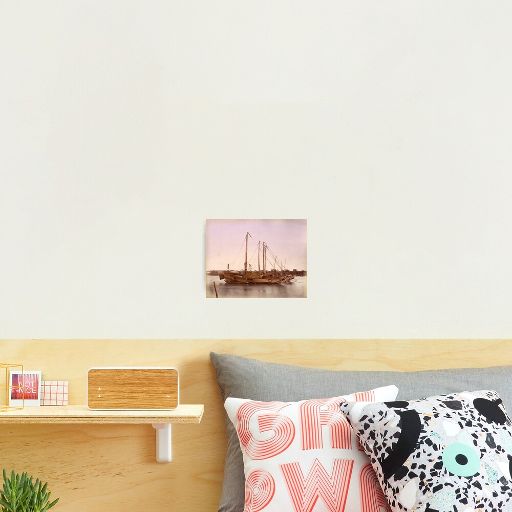 Japanese junk boat Photographic Print