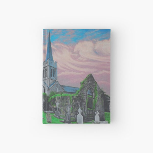 Athenry Church at Sunset Hardcover Journal