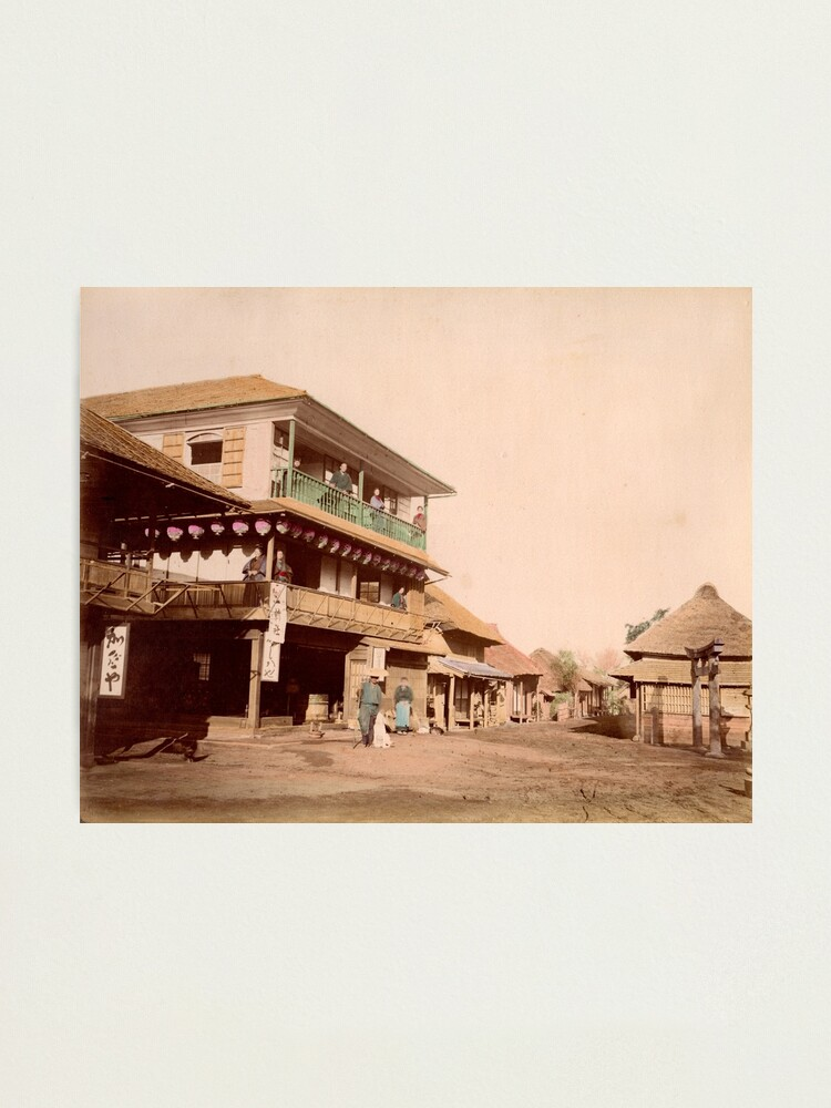 Alternate view of Katase tea house near Enoshima, Japan Photographic Print