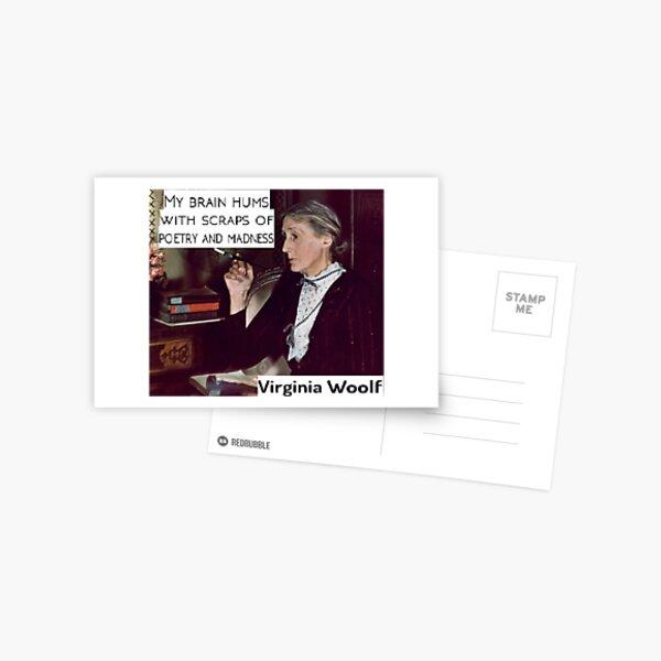 Virginia Woolf - Poetry & Madness Postcard
