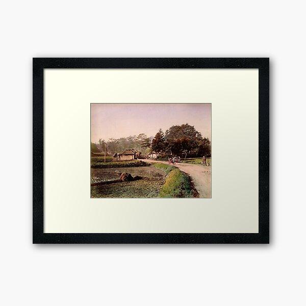 View of Totsuka, Tokaido, Japan Framed Art Print
