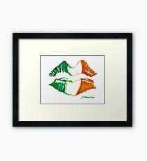 Kiss Me, I'm Irish Framed Print