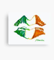 Kiss Me, I'm Irish Canvas Print