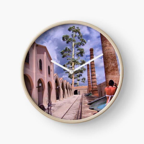 in the manner of De Chirico Clock