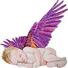 Schlafender kleiner Engel Version 1 von Doris Thomas
