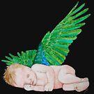 Schlafender kleiner Engel Version 2 von Doris Thomas