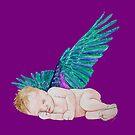 Schlafender kleiner Engel Version 3 von Doris Thomas