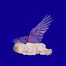 Schlafender kleiner Engel Version 4 von Doris Thomas