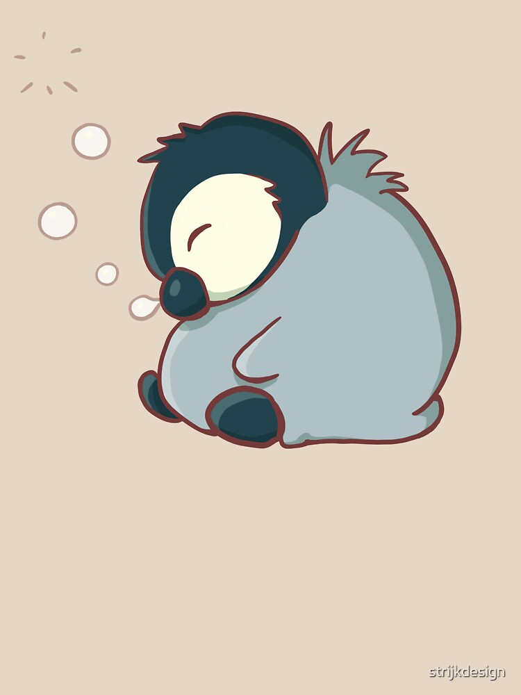 Sleepy baby penguin by strijkdesign