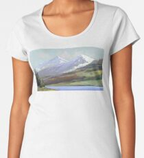Snowy Mountains Women's Premium T-Shirt