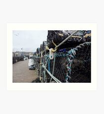FISHING CAGES ST IVES  Art Print