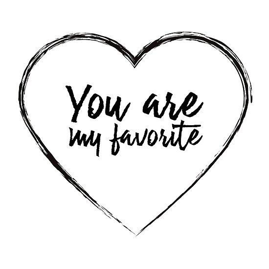 Pósters Eres Mi Favorito Corazón De Amor Regalo De San Valentín