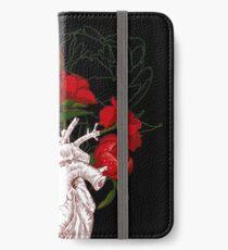 Vinilo o funda para iPhone dibujo corazón humano con flores
