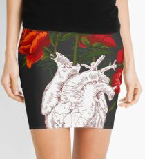 drawing Human heart with flowers Mini Skirt
