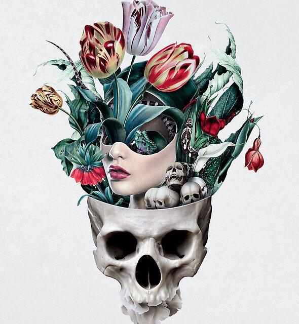 Skull Girl by RIZA PEKER