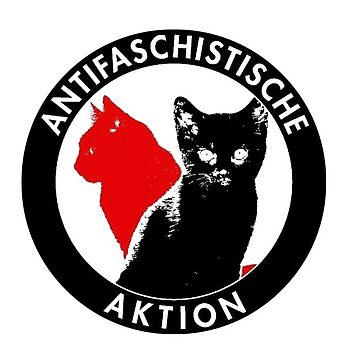 Antifaschistische Katze Aufkleber von reyboot