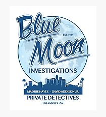 Moonlighting -  Blue Moon Investigations Photographic Print