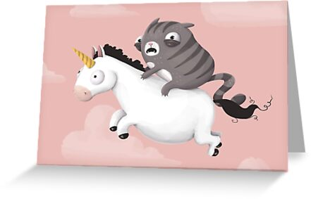 Cat and Unicorn by agrapedesign